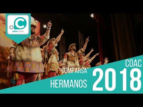 La agrupación Hermanos llega al COAC 2018 en la modalidad de Comparsas. En años anteriores (2017) concursaron en el Teatro Falla como La cuenta atrás, consiguiendo una clasificación en el concurso de Preliminares.