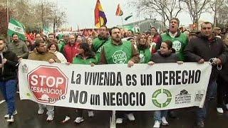 مظاهرات في إسبانيا ضد سياسات التقشف الحكومية