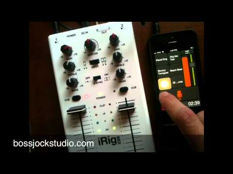 Live Stream a Podcast with iRig MIX and bossjock studio