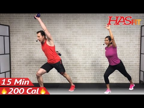 15 Minute Standing Abs Workout - 15 Min Abs & Standing Cardio - Standing Ab Workout for Women & Men