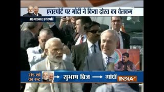 PM Modi and Israel PM Netanyahu hold roadshow in Ahmedabad - INDIATV