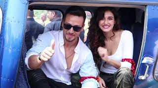 Tiger Shroff & Disha Patani's Grand Helicopter Entry For Baaghi 2 Trailer Launch - HUNGAMA