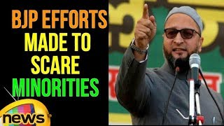 Asaduddin Owaisi Alleged That BJP Efforts are Being Made to Scare Minorities | Mango News - MANGONEWS