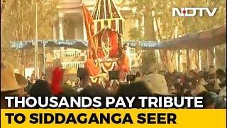 Last Rites Of Seer Shivakumara Swami: Thousands Pay Tribute In Karnataka - NDTV