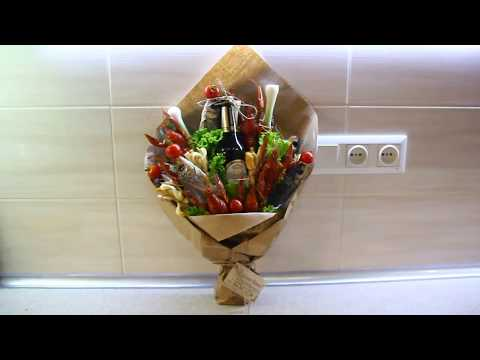 Как сделать съедобный букет мужу