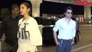 'Sui Dhaaga' Stars Varun Dhawan & Anushka Sharma Leave For Lucknow For Promotion Of Their Film - ZOOMDEKHO