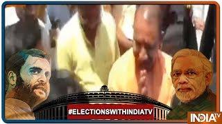Lok Sabha Elections 2019: UP CM Yogi Adityanath Visits Sankat Mochan Temple In Varanasi - INDIATV