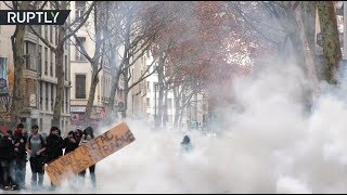 French cops fire tear gas at student protest in Lyon - RUSSIATODAY