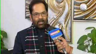 Union Minister Mukhtar Abbas Naqvi speaks to NewsX on Congress on PM Modi to apologise - NEWSXLIVE