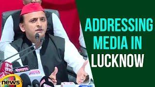 Samajwadi Party Chief Akhilesh Yadav Addressing Media In Lucknow | Mango News - MANGONEWS