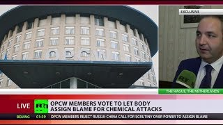 OPCW members vote to let body assign blame for chemical attacks - RUSSIATODAY
