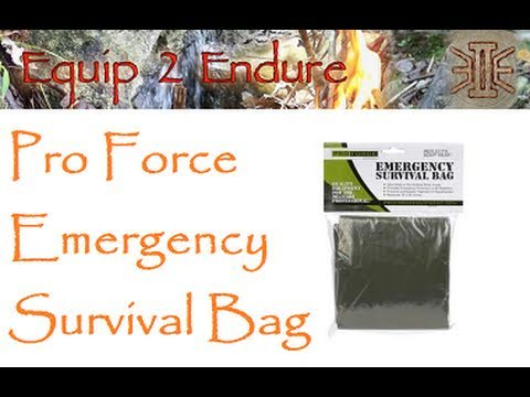 Emergency Survival Bag from Pro Force Test, Equip 2 Endure