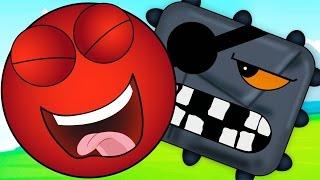 Новинка! КРАСНЫЙ ШАР Red Ball Опасное приключение в джунглях Мультик игра ВСТРЕЧА с ЧЁРНЫМ КВАДРАТОМ