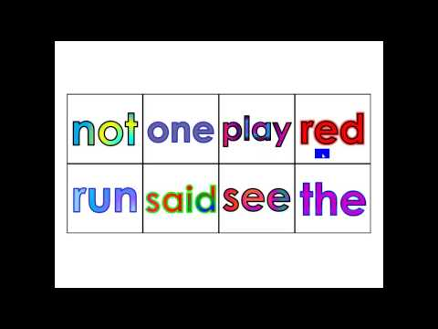 Pre-Kindergarten Dolch Vocabulary Sight Words (25 - 32)