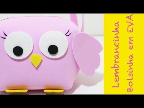 Artesanato EVA -  Como fazer Lembrancinha Coruja - DIY- goma EVA - Foami - Handicraft