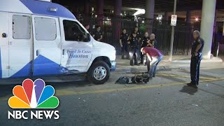 Man Tries To Carjack Houston News Van Before Stealing Police Car | NBC News - NBCNEWS