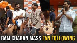 Ram Charan Launches Happi Mobile Store In Vijayawada | Ram Charan Mass Craze - TFPC