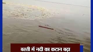 पानी का स्तर बढ़ने से सरयू नदी में बाढ़ की चपेट में आया काली माता का मंदिर - ITVNEWSINDIA