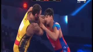 PWL 3 Day 11:Georgi Ketoev VS Vicky Chahar at Pro Wrestling League 2018 | Full Match - NEWSXLIVE