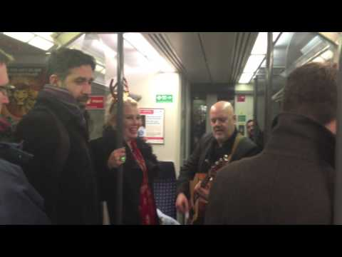 Kim Wilde Drunkenly Singing On The Train