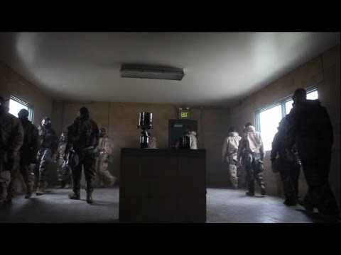 Marines Conduct Gas Chamber Training