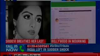 Legendary Bollywood actress Sridevi breathed her last in Dubai on Saturday at the age of 54 - NEWSXLIVE