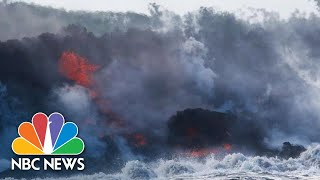 New Deadly Threat As Hawaii's Lava Flows Pour Into The Ocean | NBC News - NBCNEWS