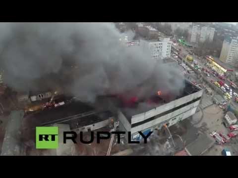 Incendio en Rusia a vista de dron