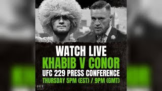 Conor McGregor vs. Khabib Nurmagomedov: Press conference ahead of UFC title fight - RUSSIATODAY