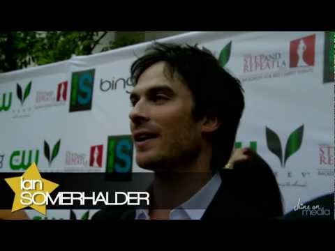 Ian Somerhalder & Nina Dobrev - Tips for Going Green at the Influence Affair