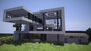 Minecraft modern house 6 modernes haus hd video for Minecraft modernes haus download 1 7 2