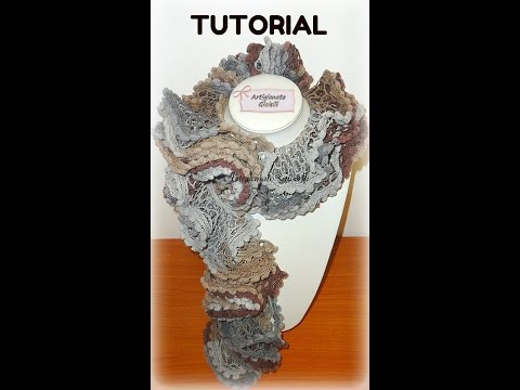 DIY Tutorial sciarpa ai ferri | Lana a rete | Scarf knitting