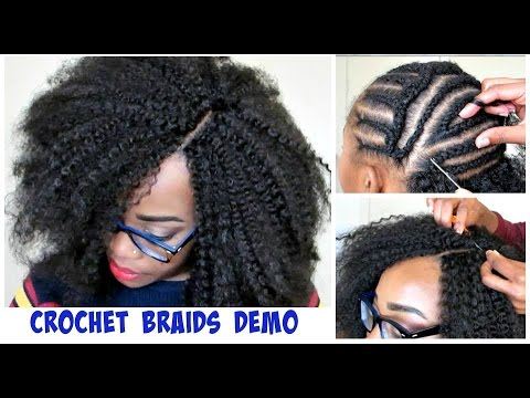 WATCH ME DO CROCHET BRAIDS Invisible Part Method w Marley Hair