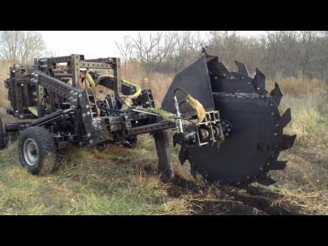 Trencher Prototype 2 - First Field Tests - 75 hp