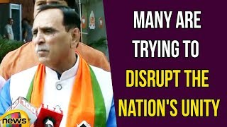 Gujarat CM Vijay Rupani Said That There Are Many Who Are Trying To Disrupt The Nation's Unity - MANGONEWS