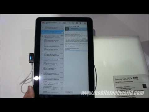Samsung Galaxy Tab 10.1 hands on preview
