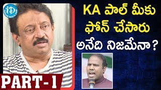 Ram Gopal Varma (RGV) Exclusive Interview Part #1 | #KammaRajyamLoKadapaReddlu | iDream Movies - IDREAMMOVIES