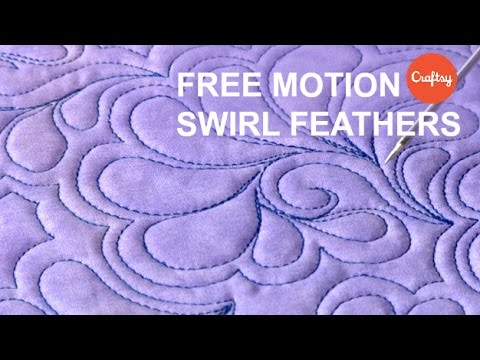 FMQ Ideas: Free Motion Swirl Feathers | Quilting Tutorial with Patsy Thompson