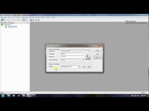 Informatica Tutorial Part 1.2 - Client Configuration (Add Repository)