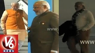 PM Narendra Modi makes a fashion statement - V6NEWSTELUGU