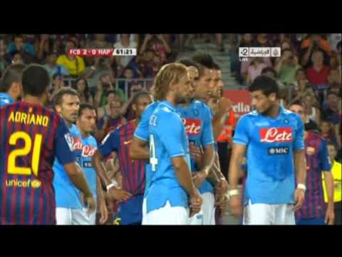 Barcelona vs Napoli 5 0 All goals and Full Match Highlights 2011 Guan Gamper Cup