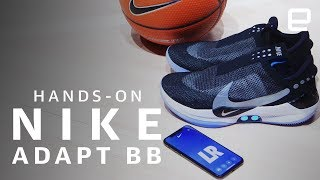 Nike's Adapt BB Hands-On: First app-controlled, self-lacing basketball shoes - ENGADGET