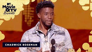 Chadwick Boseman Accepts The Award for Best Performance in a Movie | 2018 MTV Movie & TV Awards - MTV