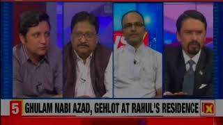 Jugaad front test: Ghulam Nabi Azad, Gehlot at Rahul's residence — Nation at 9 - NEWSXLIVE