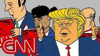 Trump making America read again - Drawn by Jake Tapper - CNN