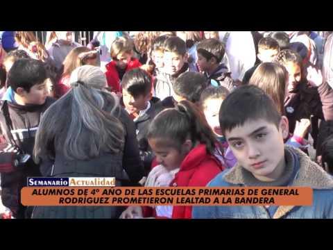 Alumnos de 4º año de escuelas primarias de General Rodríguez prometieron lealtad a la bandera