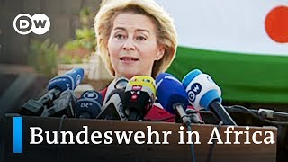 German military in Africa: Defense Secretary Van der Leyen visits Niger | DW News - DEUTSCHEWELLEENGLISH