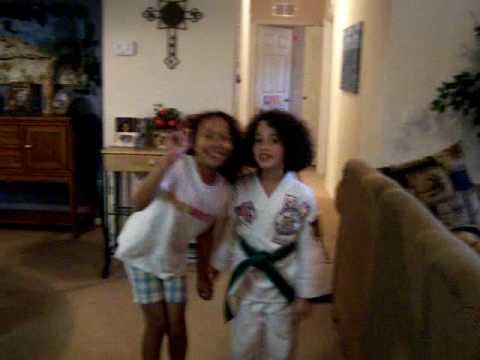 Taekwondo karate girl