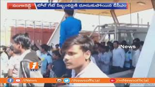 Road Mishap At Sangareddy Tollgate | One Lost Life | iNews - INEWS