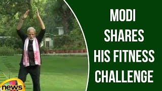 Modi Shares His Fitness Challenge Video, Nominates HD Kumaraswamy | Mango News - MANGONEWS